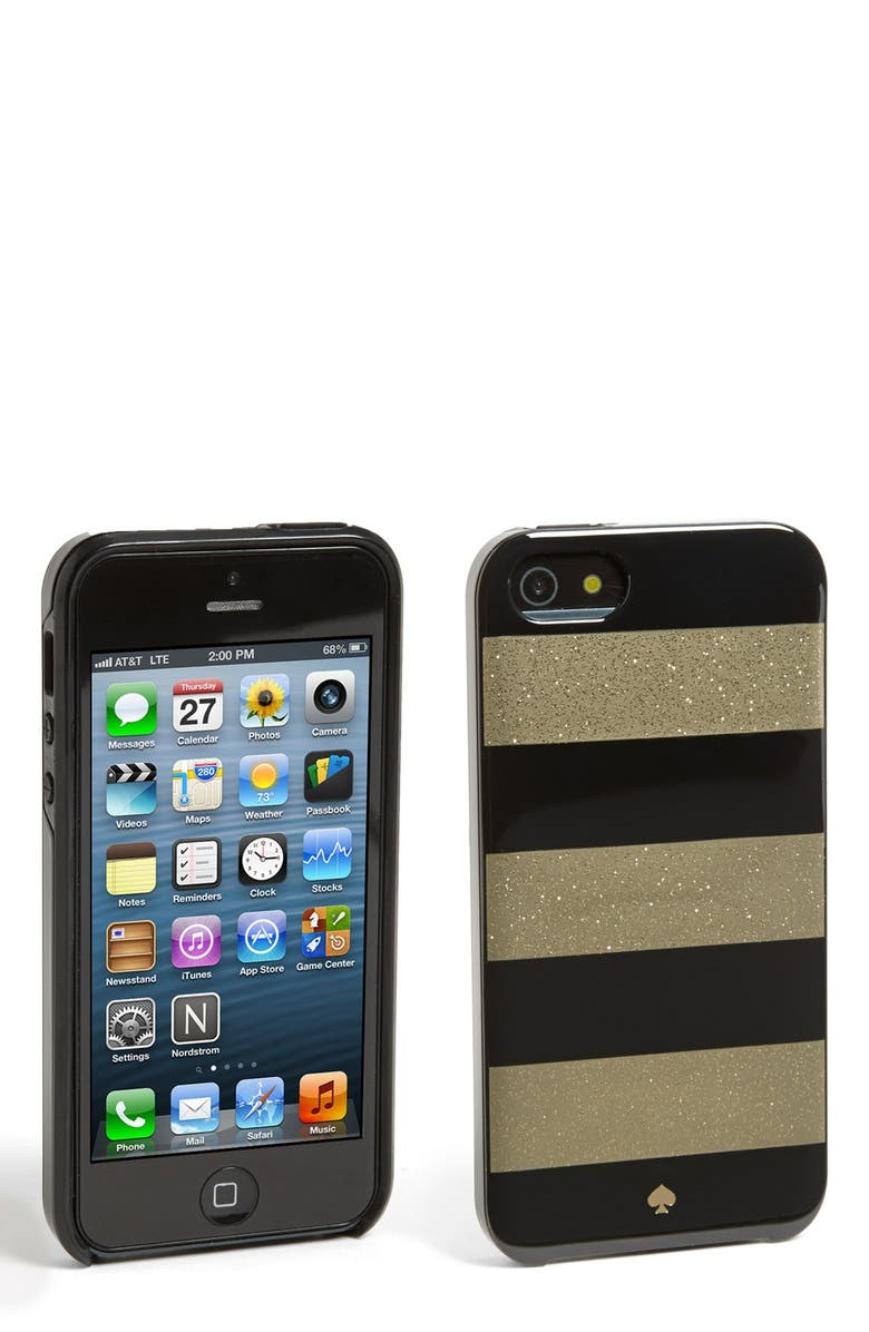KATE SPADE NEW YORK 'glitter jubilee' iPhone 5 & 5S case, Main, color, 001