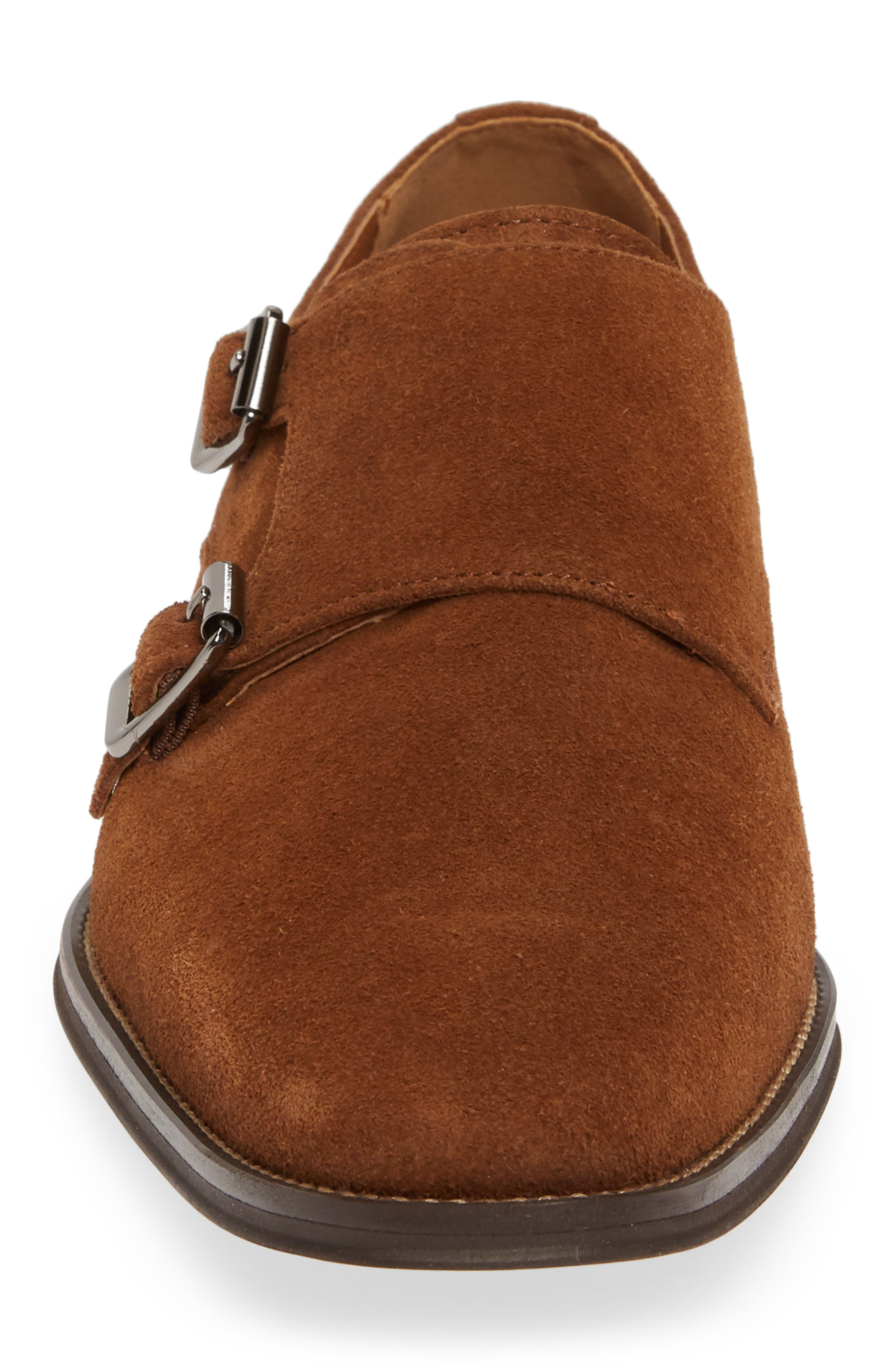 ,                             Roger Monk Strap Derby,                             Alternate thumbnail 4, color,                             TAN SUEDE