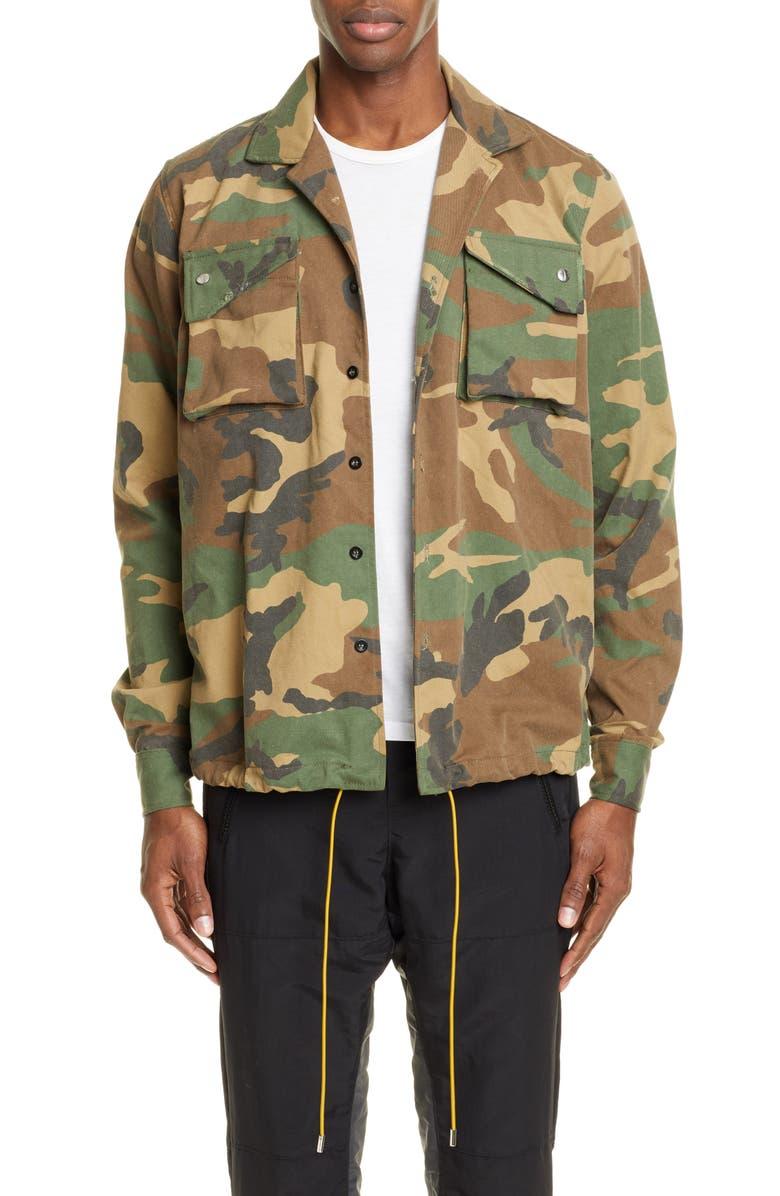 RHUDE Camo Twill Field Jacket, Main, color, CAMO
