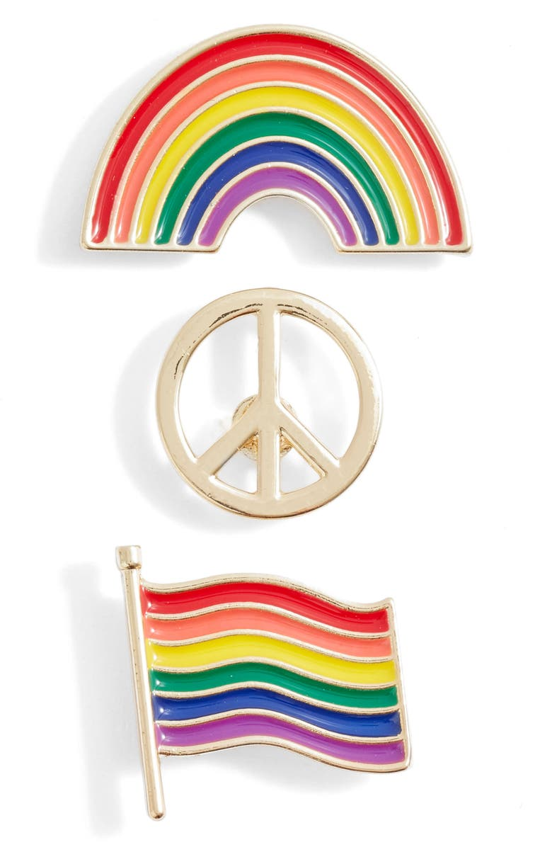 BP. Be Proud by BP. 3-Pack Gender Inclusive Accessory Pins, Main, color, MULTI