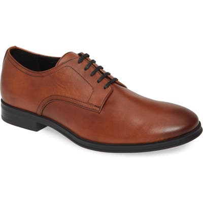 Calvin Klein Wilburn Plain Toe Derby- Brown