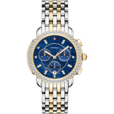 Michele Sidney Chronograph Diamond Watch Head & Bracelet,