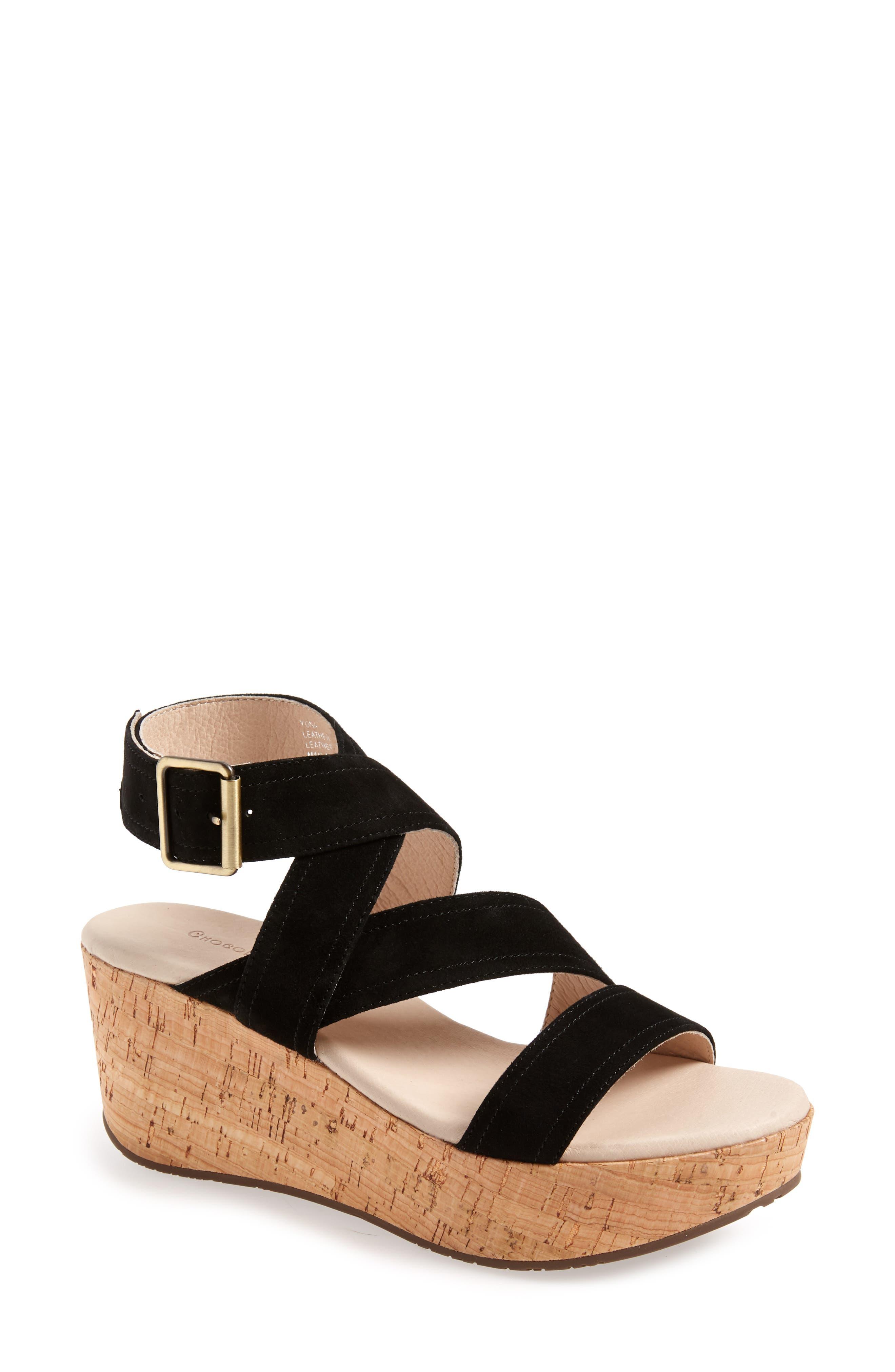 Image of Chocolat Blu Yona Platform Wedge Sandal