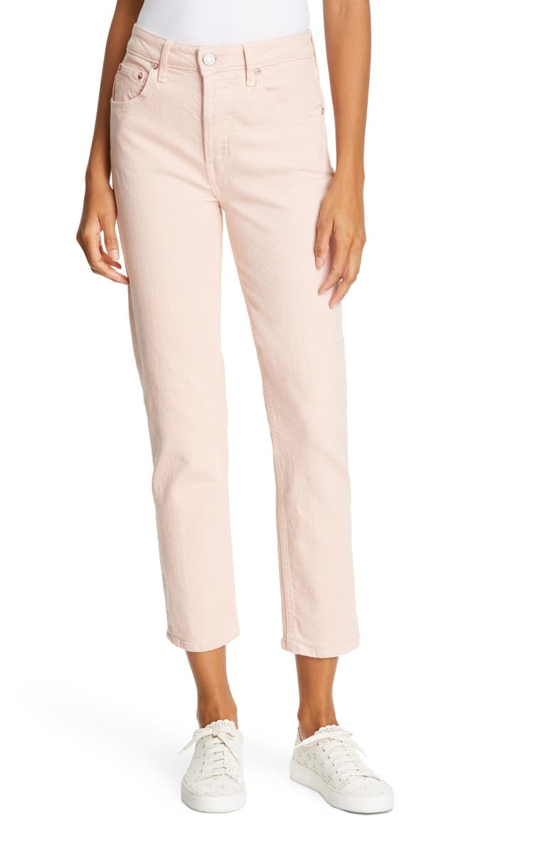 TRAVE Constance High Waist Ankle Straight Leg Jeans, Main, color, FRENCH KISS