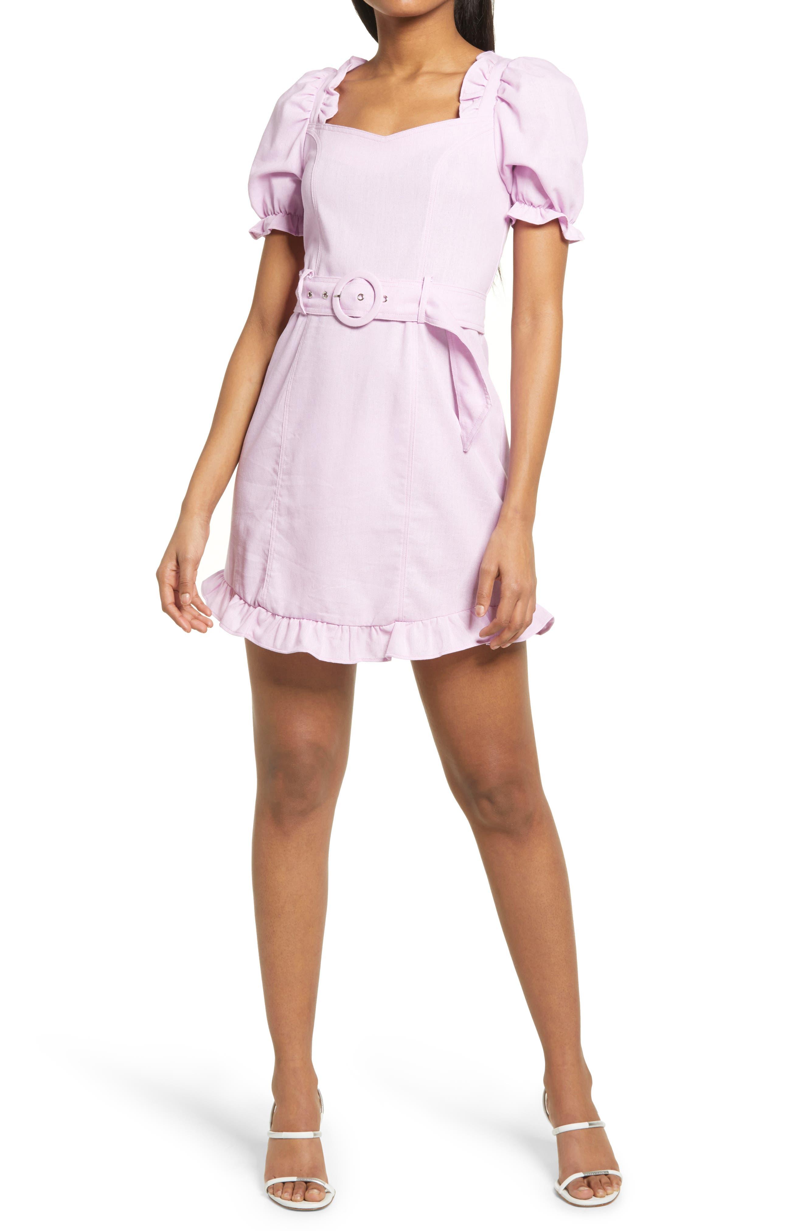 Women's Kendall + Kylie Puff Sleeve Minidress