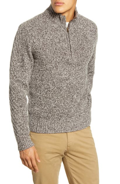 Billy Reid Tops CASHMERE QUARTER ZIP PULLOVER