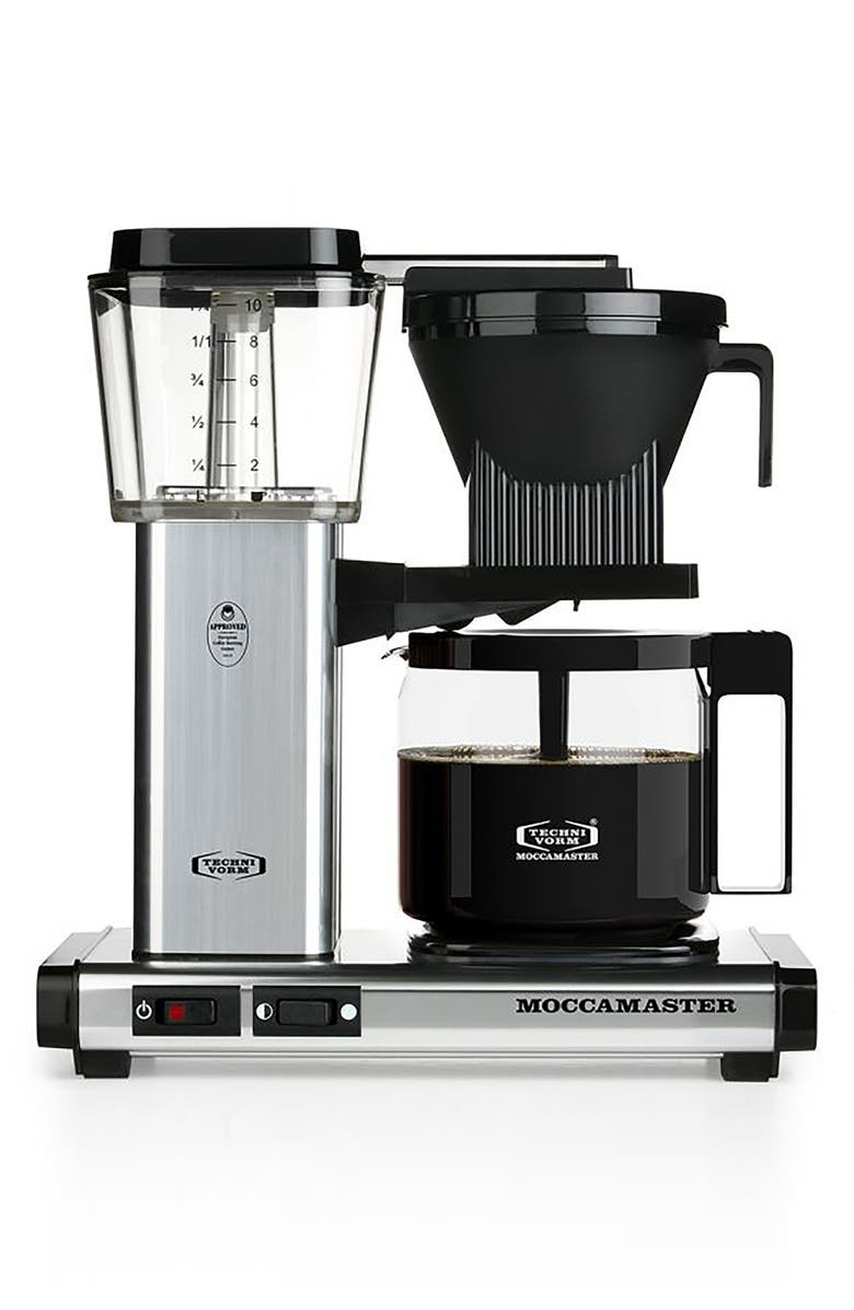 MOCCAMASTER KBG Coffee Brewer, Main, color, POLISHED SILVER