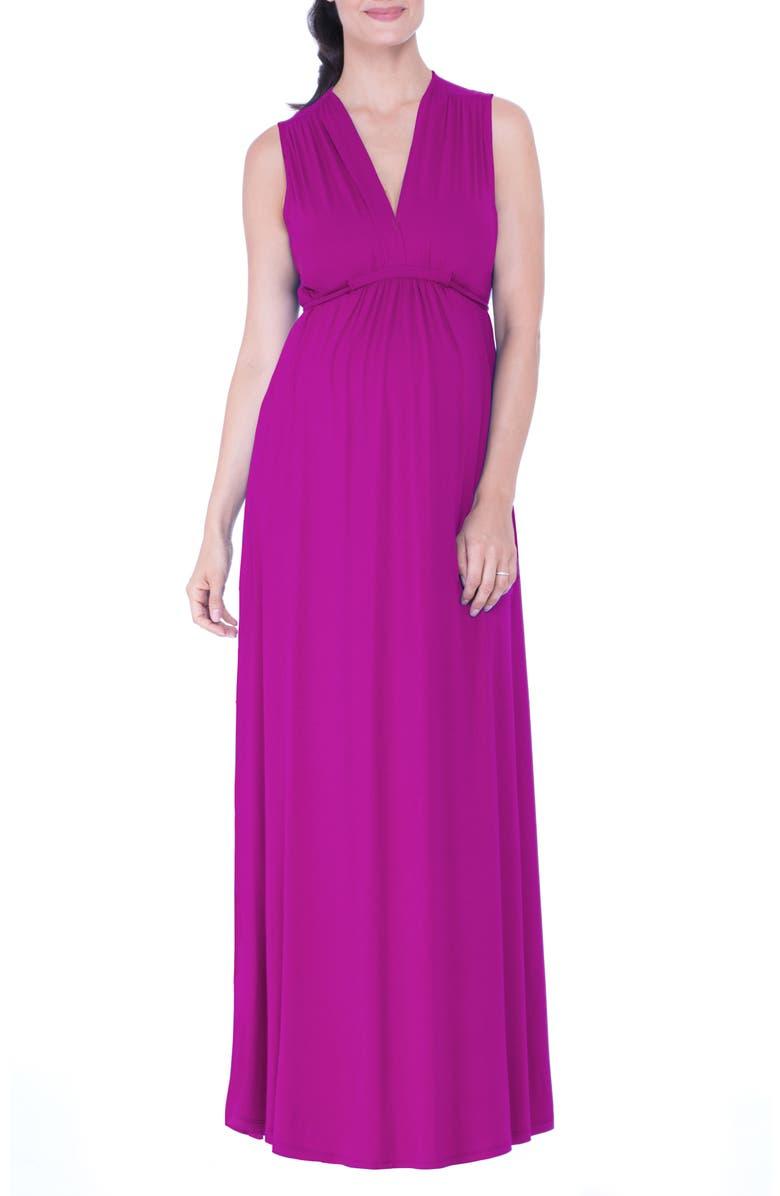 OLIAN Lucy Maternity Maxi Dress, Main, color, 510