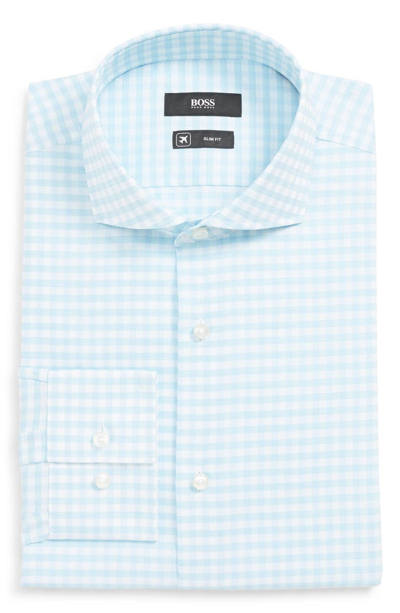 BOSS Jason Slim Fit Check Dress Shirt, Main, color, 461