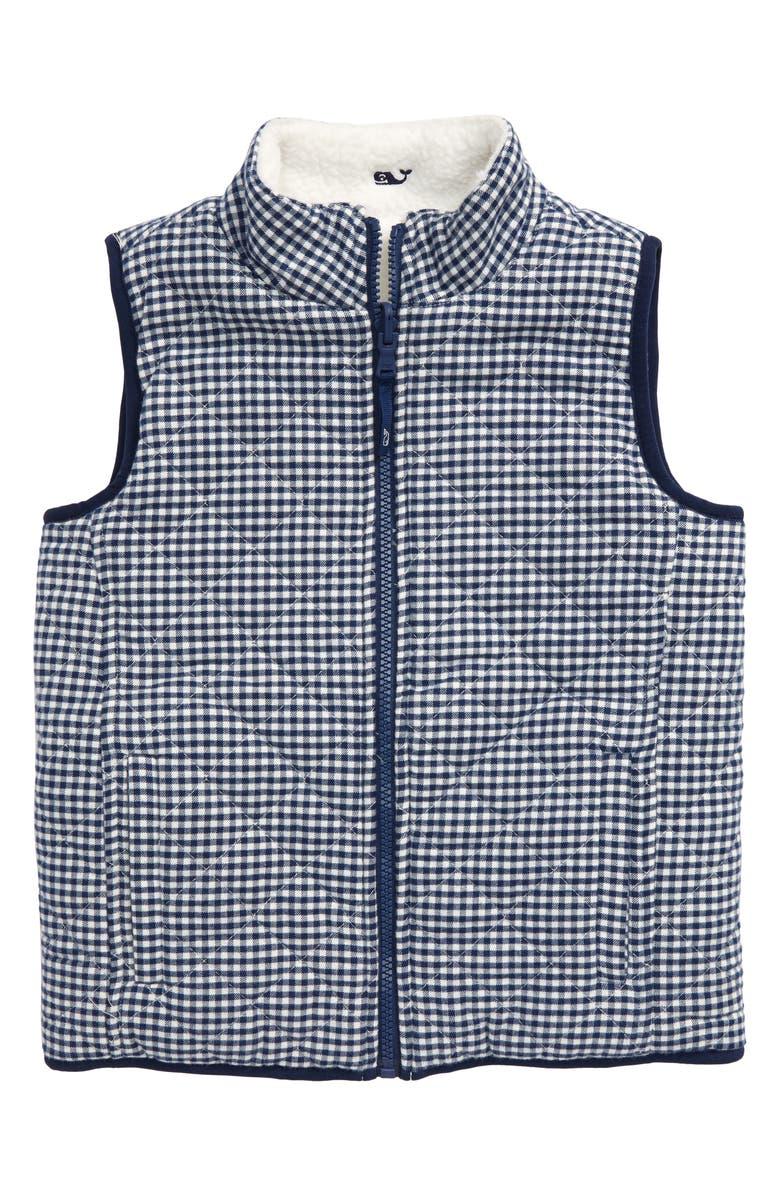 VINEYARD VINES Reversible Fleece Vest, Main, color, 400