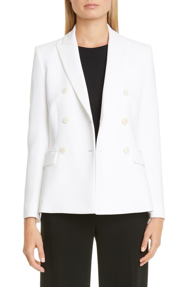ALTUZARRA Indiana Double Breasted Blazer, Main, color, 000100 OPTIC WHITE