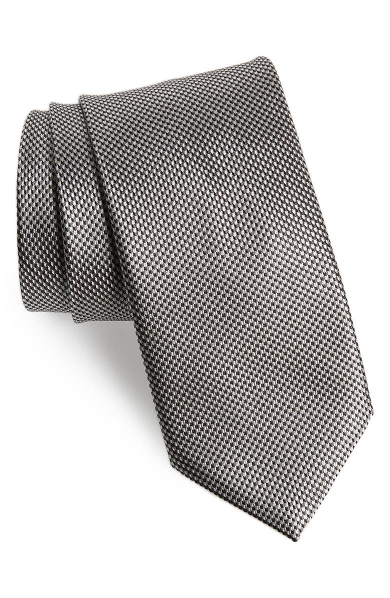 BRIONI Solid Silk Tie, Main, color, 019