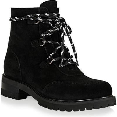 La Canadienne Charm Genuine Shearling Lined Waterproof Boot- Black