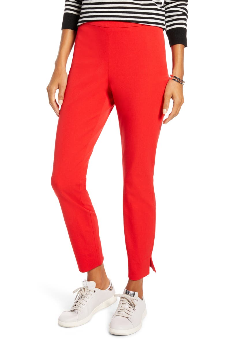 1901 4-Way Stretch Ankle Skinny Pants, Main, color, RED BLOOM