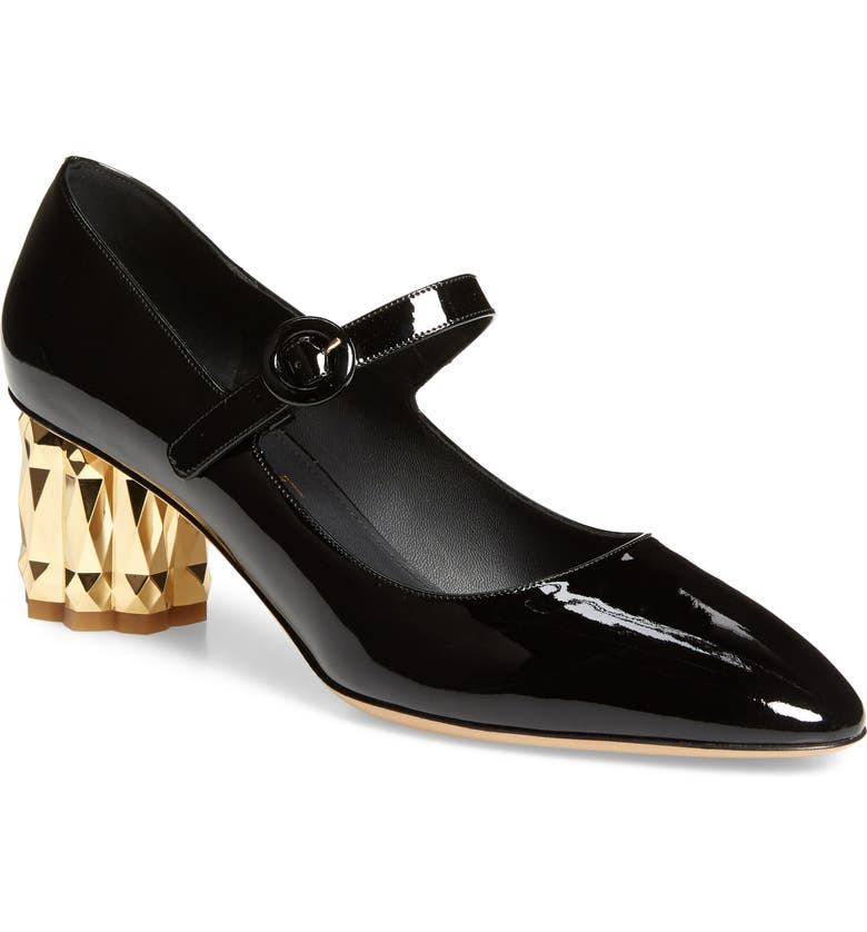 SALVATORE FERRAGAMO Ortensia Mary Jane Pump, Main, color, BLACK
