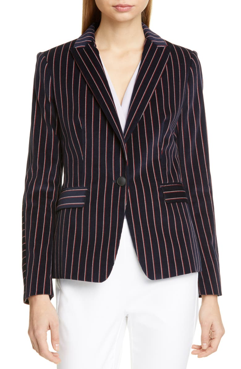 RAG & BONE Lexington Stripe Blazer, Main, color, 416