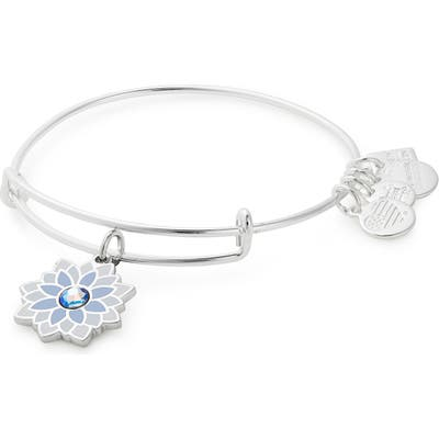 Alex And Ani Water Lily Adjustable Wire Bangle