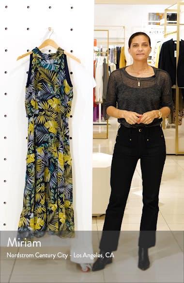 Tropics Chiffon Midi Dress, sales video thumbnail