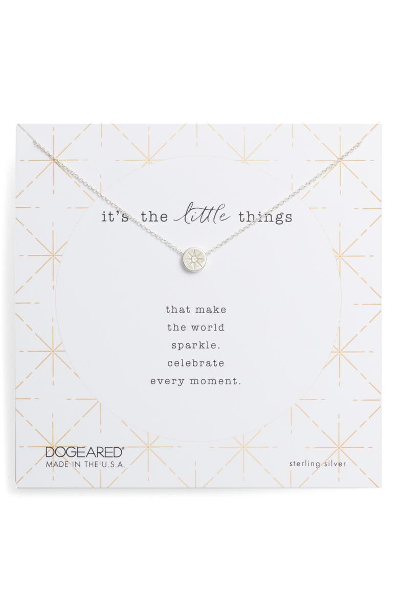 DOGEARED It's the Little Things Crystal Pendant Necklace, Main, color, 040