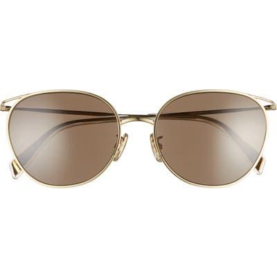 Celine 55mm Sunglasses - Gold/ Brown