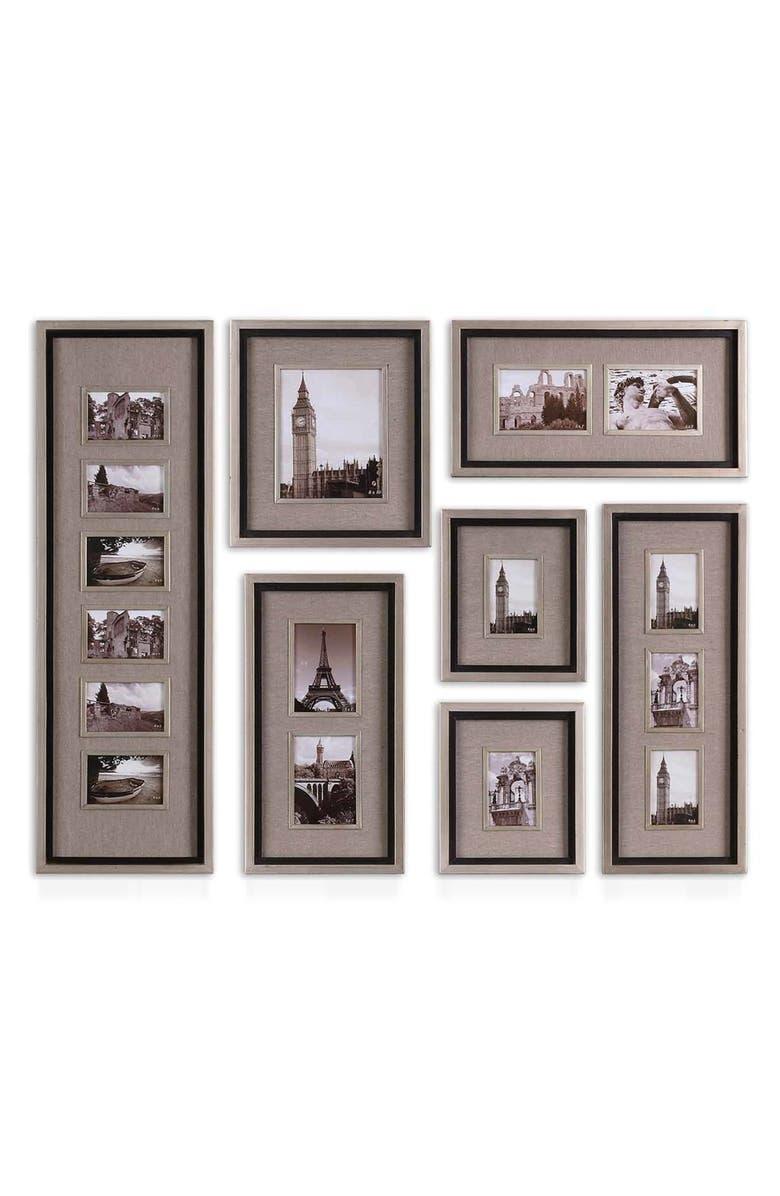 UTTERMOST Massena Set of 7 Picture Frames, Main, color, GREY