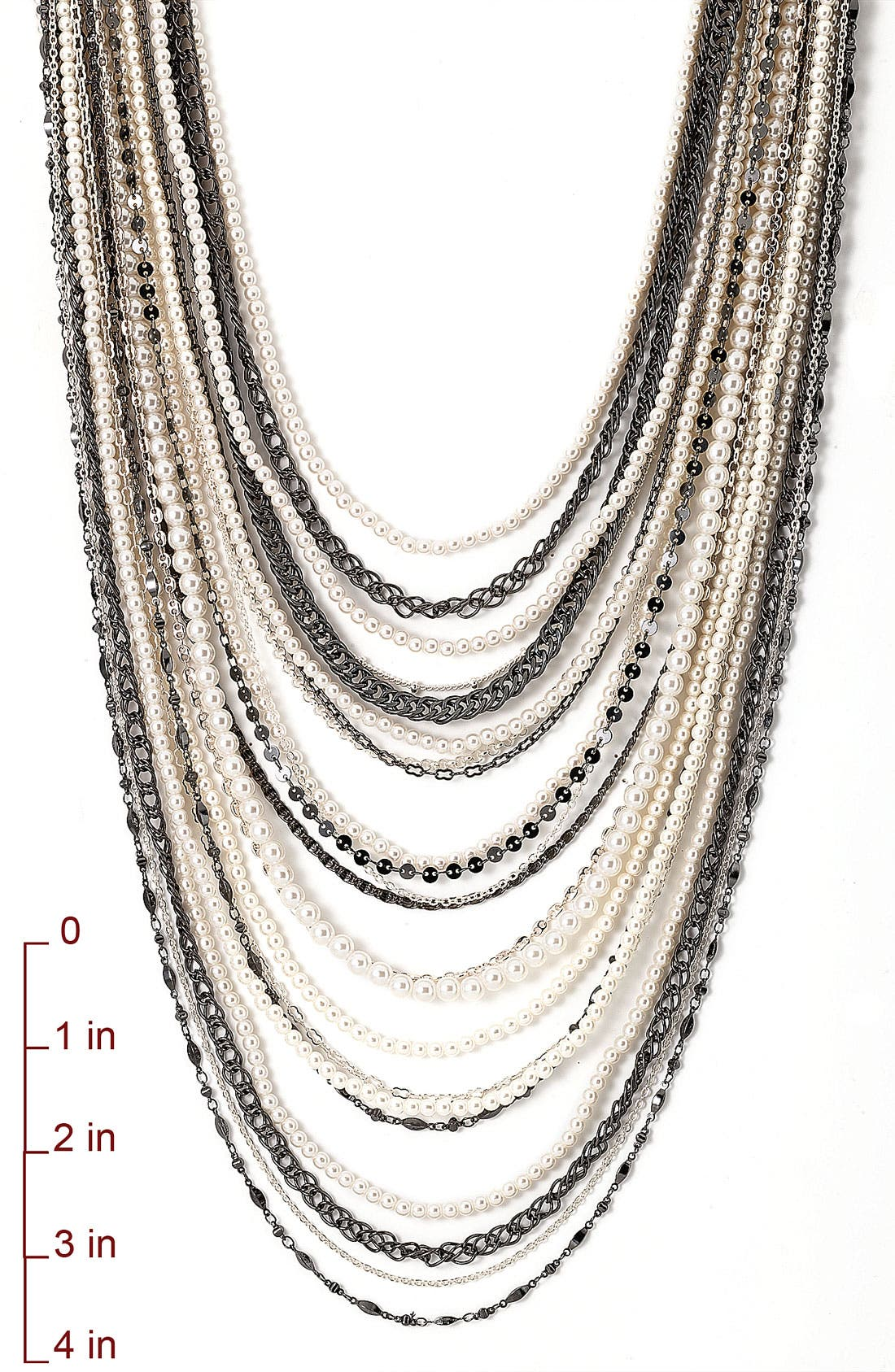 ,                             Beaded Long Multistrand Necklace,                             Alternate thumbnail 5, color,                             040