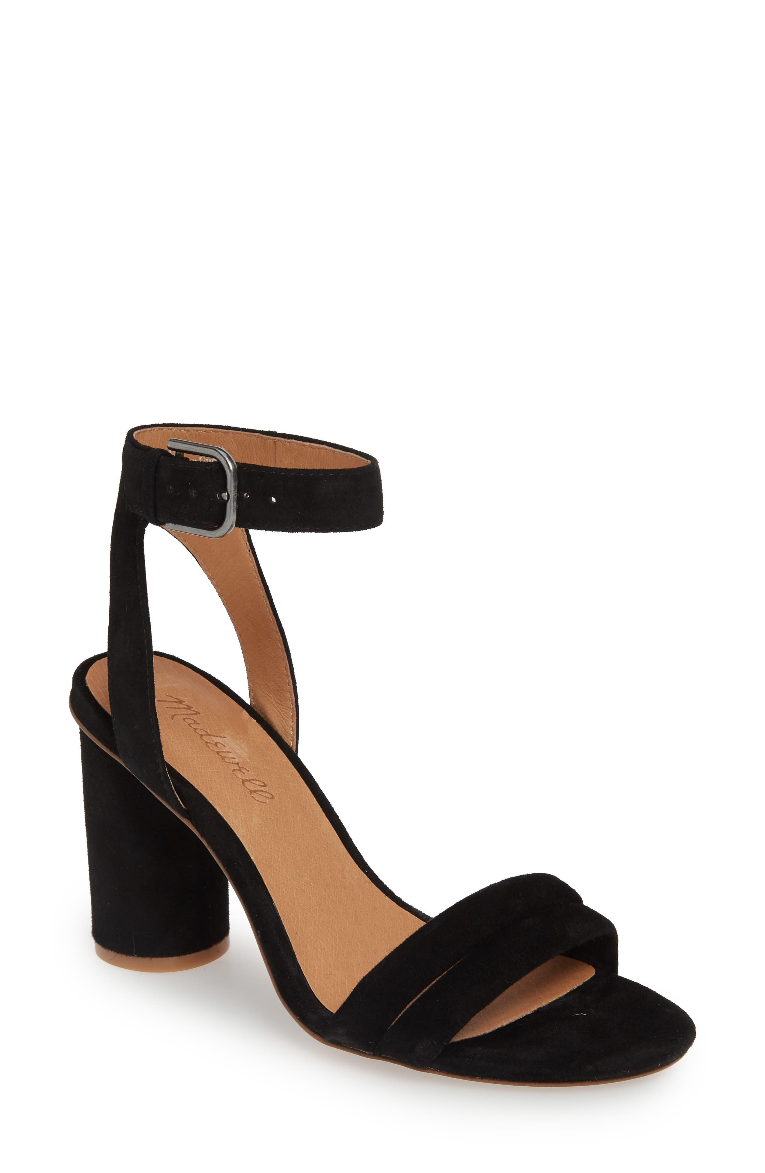 Madewell The Rosalie High Heel Sandal, Black