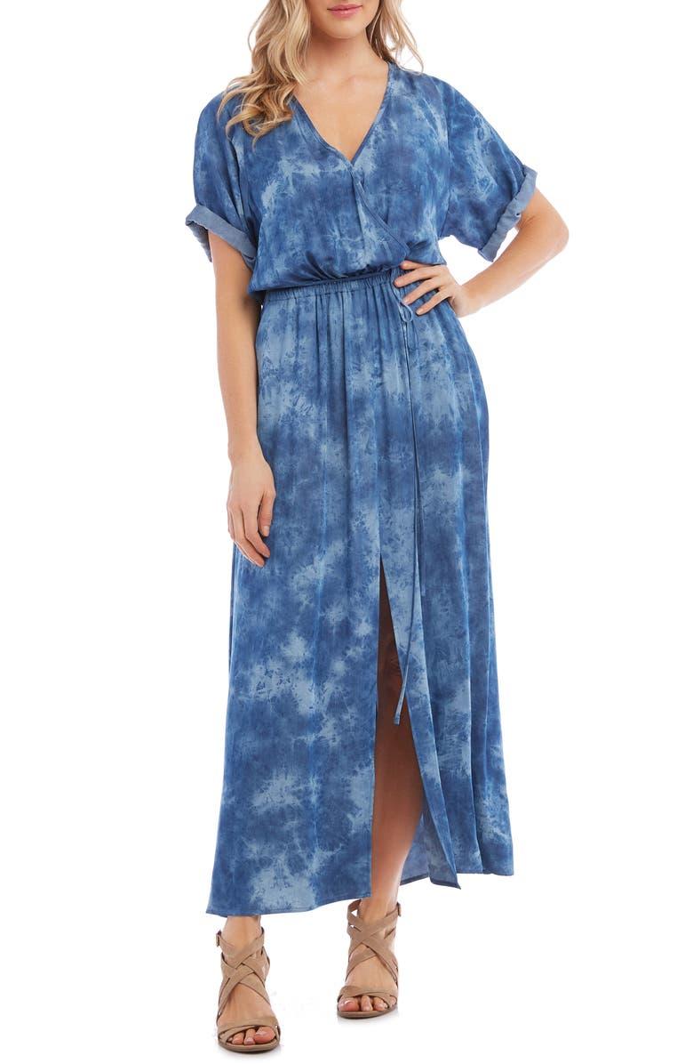 KAREN KANE Tie Dye Maxi Dress, Main, color, 400
