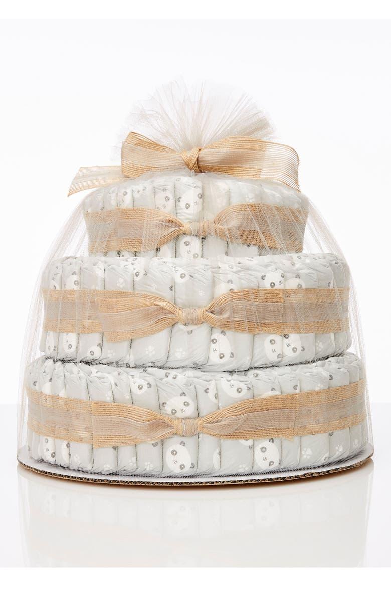 THE HONEST COMPANY Large Diaper Cake & Full-Size Essentials Set, Main, color, PANDAS