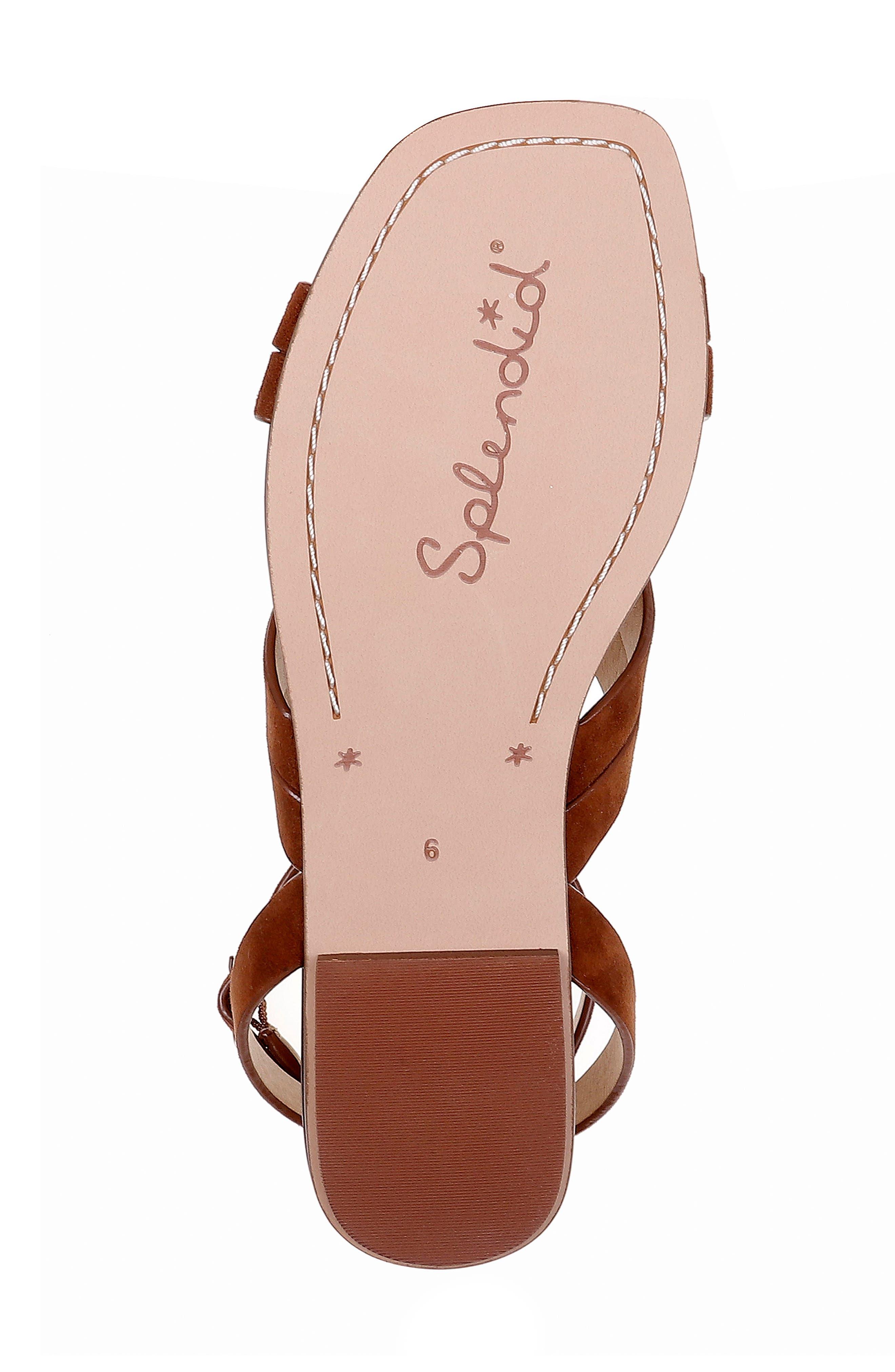 ,                             Talea Ankle Strap Sandal,                             Alternate thumbnail 6, color,                             CHESTNUT SUEDE