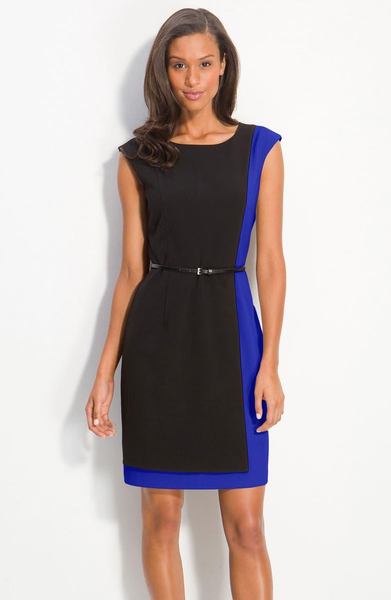39271830 Calvin Klein Belted Colorblock Sheath Dress | Nordstrom