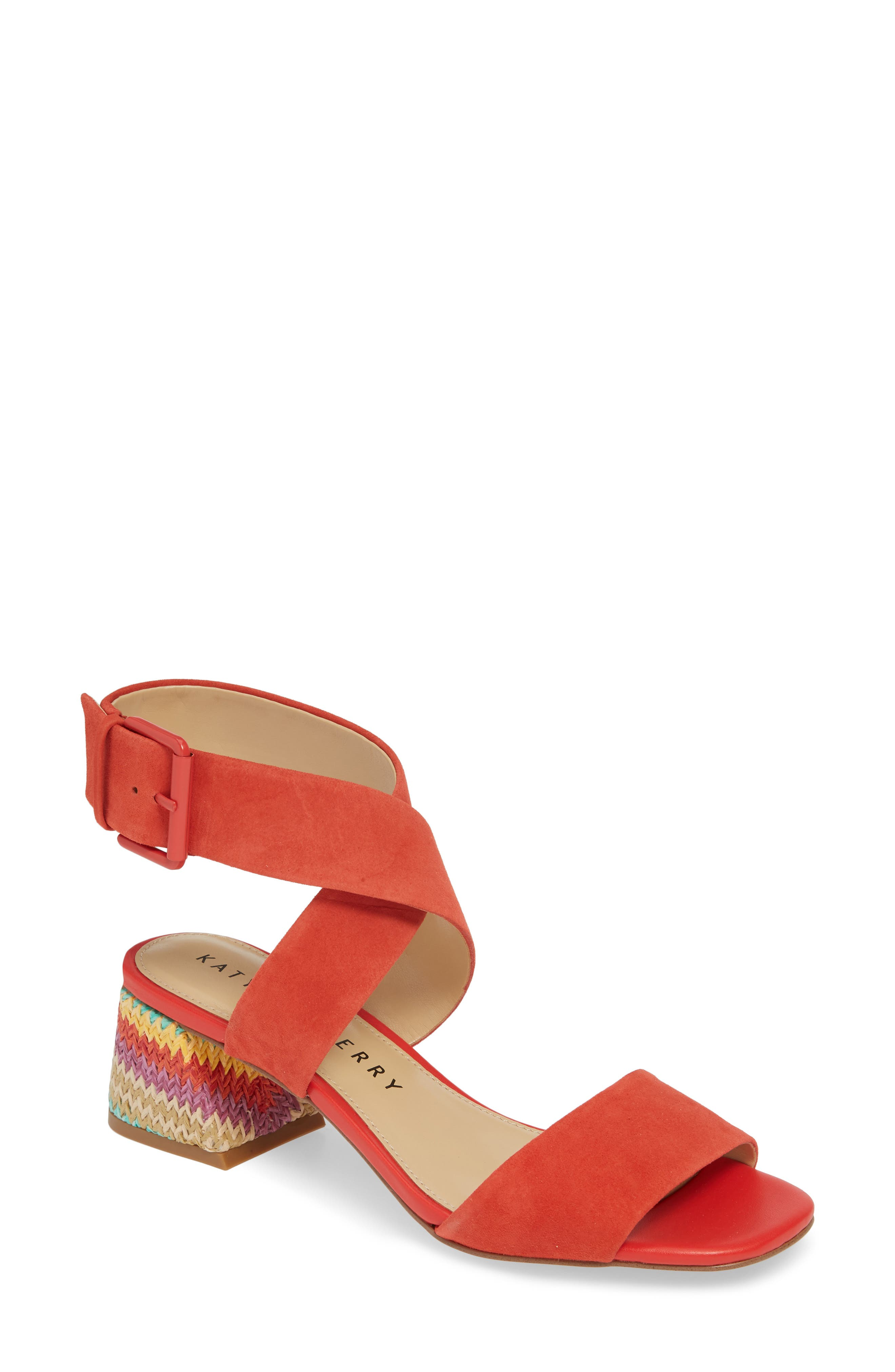 women's katy perry albee sandal, size 9.5 m - red