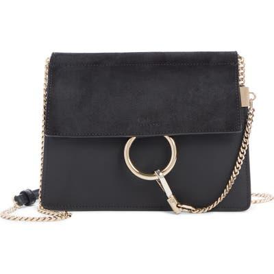 Chloe Mini Faye Suede & Leather Crossbody Bag - Black