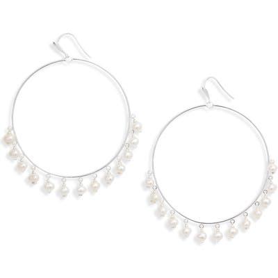 Kendra Scott Hilty Natural Pearl Hoop Earrings