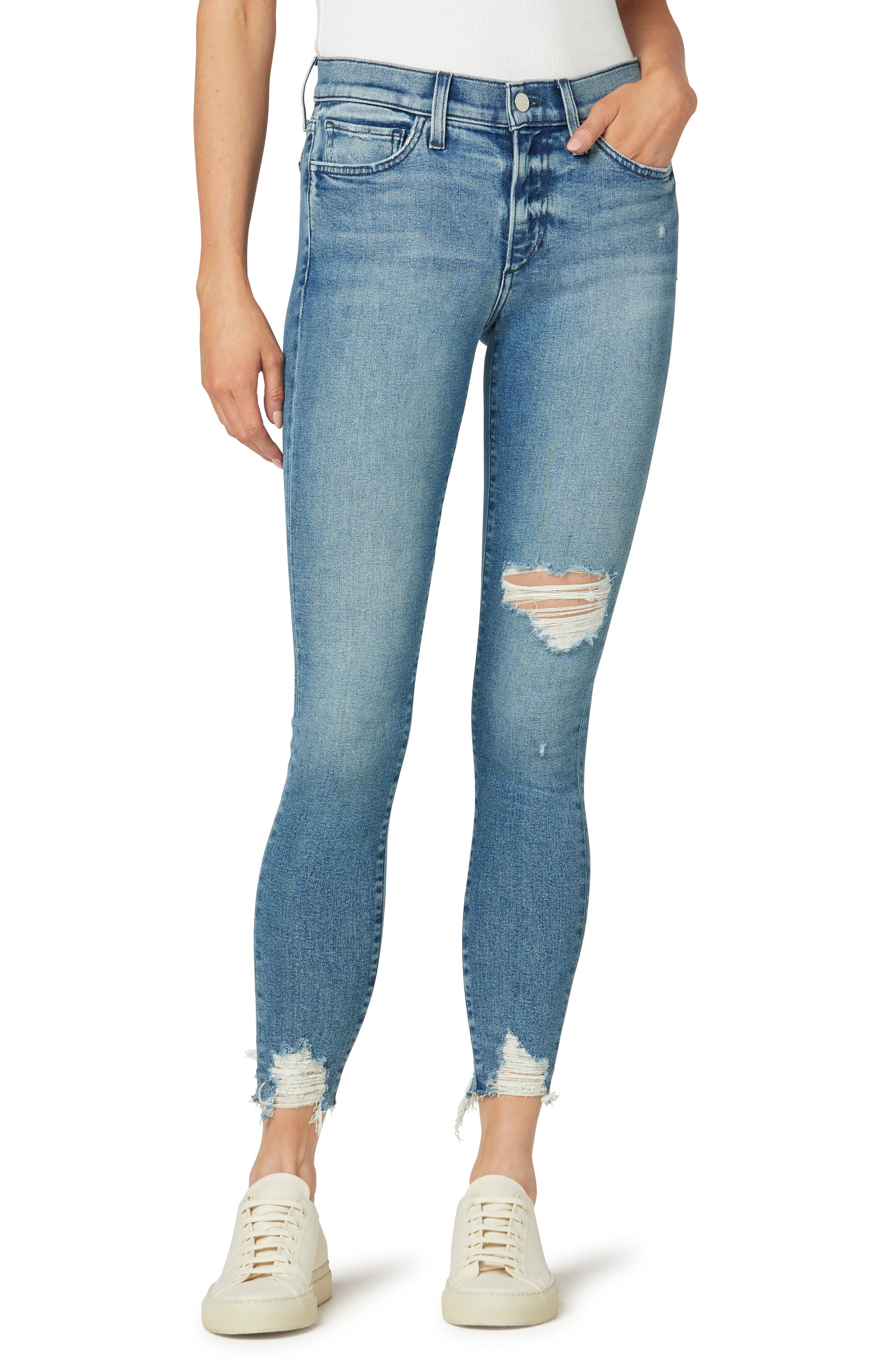 The Icon Chew Hem Ankle Skinny Jeans