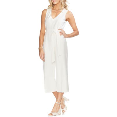 Vince Camuto Belted Crop Jumpsuit, Ivory
