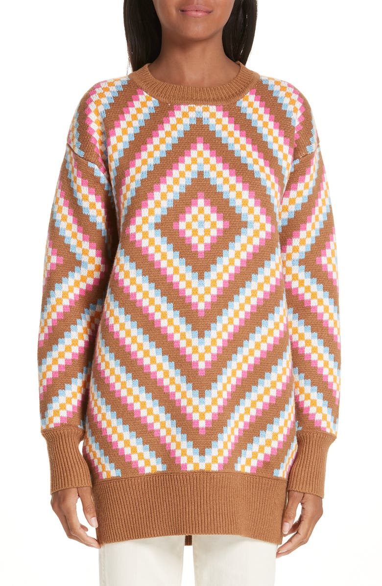 VICTOR GLEMAUD Diamond Patterned Sweater, Main, color, 200