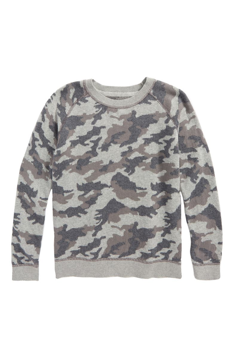 TUCKER + TATE Camo Print Sweater, Main, color, 050