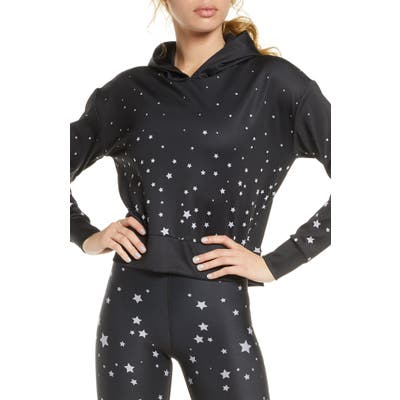 Cor Designed By Ultracor Galaxy Crop Hoodie, Black