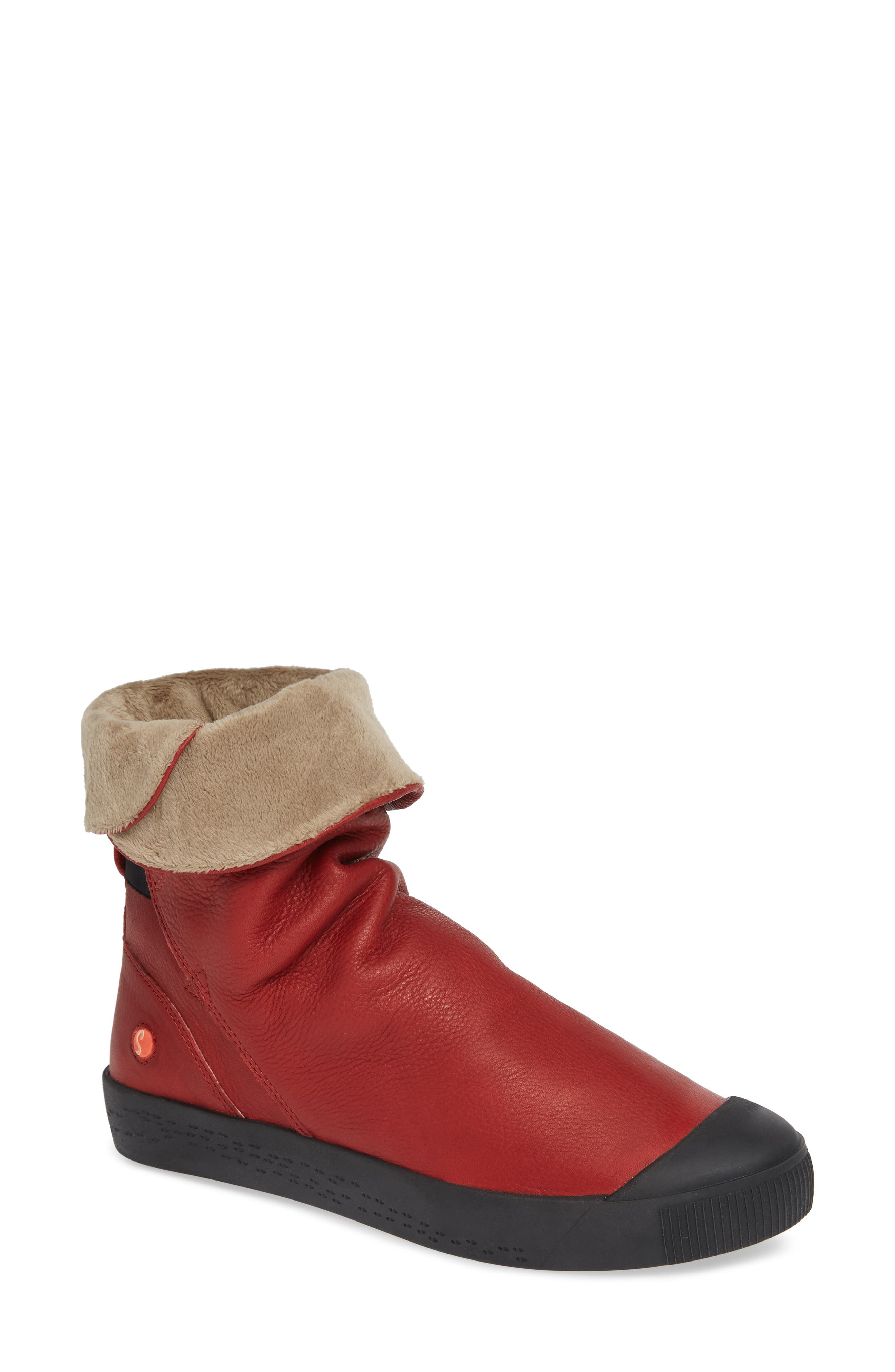Softinos By Fly London Kaz Slouchy Sneaker Boot, Red