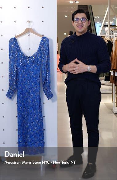 Miriam Fil Coupé Long Sleeve Midi Dress, sales video thumbnail