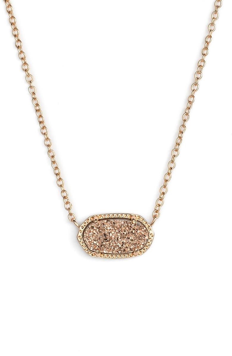 KENDRA SCOTT Elisa Pendant Necklace, Main, color, ROSE DRUSY/ ROSE GOLD