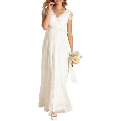 Tiffany Rose Eden Lace Maternity Gown, (fits like 6-8 US) - White