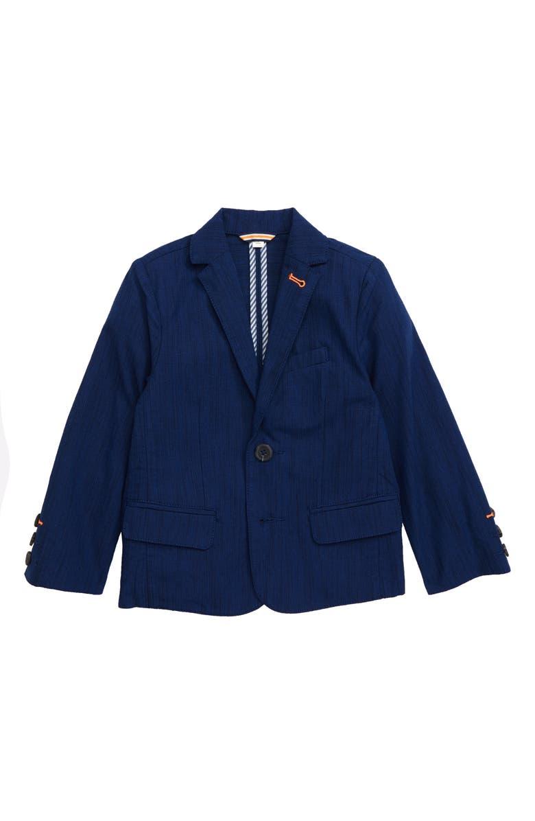 MINI BODEN Lightweight Blazer, Main, color, SUMMER BLUE
