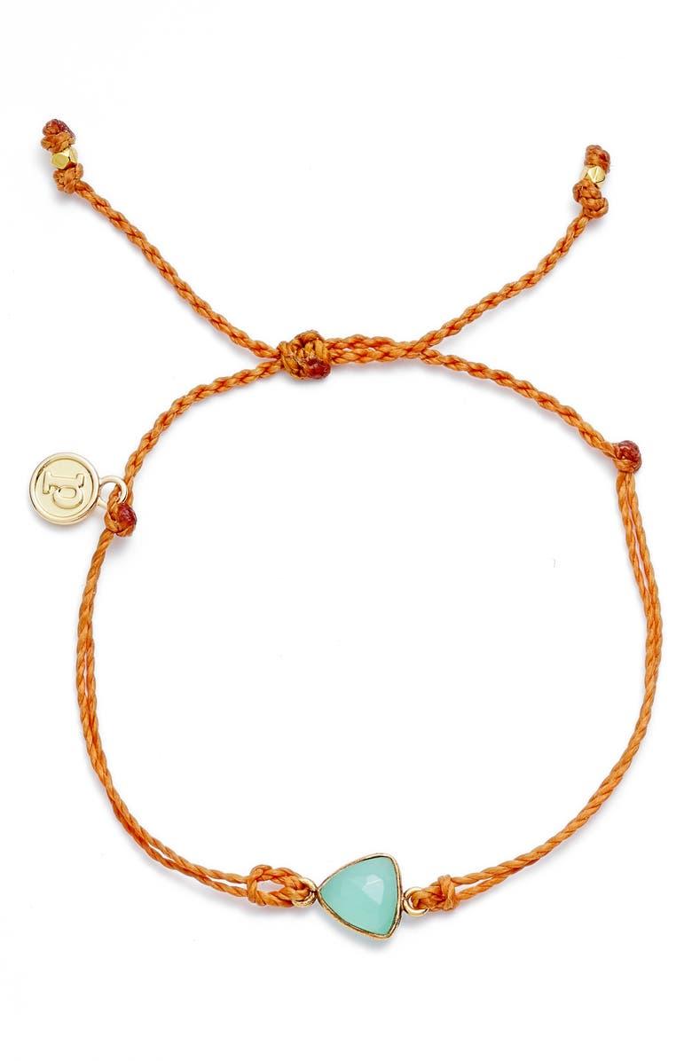 PURA VIDA Chalcedony Sliver Bracelet, Main, color, 800