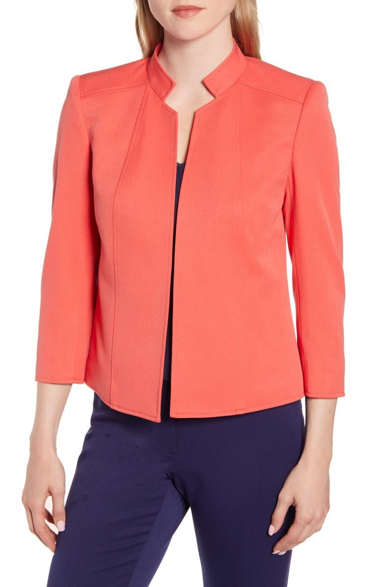ANNE KLEIN Crop Jacket, Main, color, CAPE COD