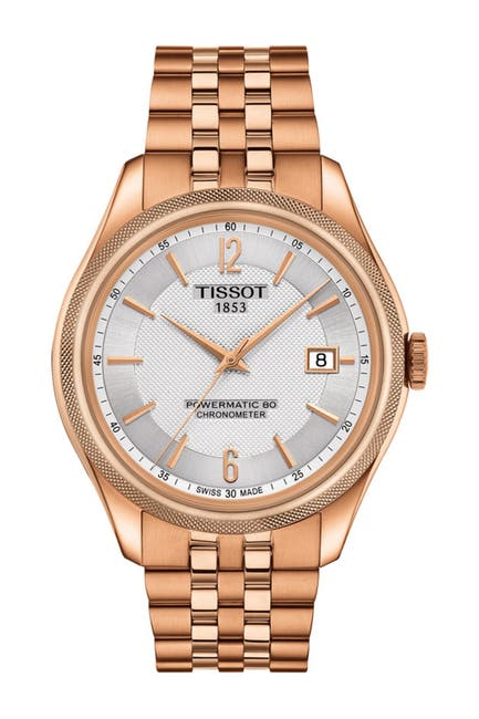 Image of Tissot Men's Ballade Powermatic 80 Bracelet Watch, 41mm