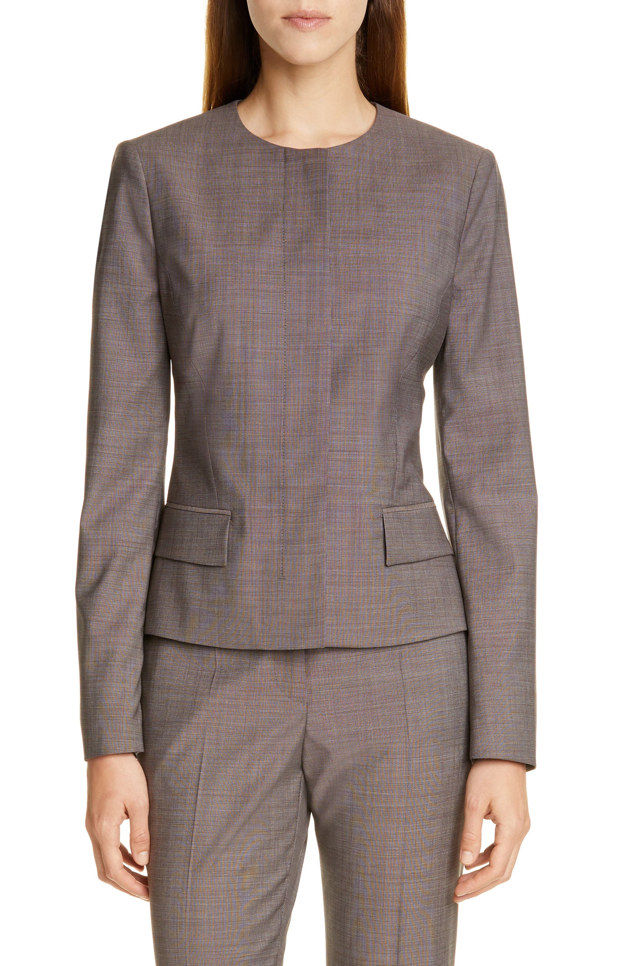 BOSS Jamaren Terra Mélange Wool Suit Jacket (Regular & Petite)