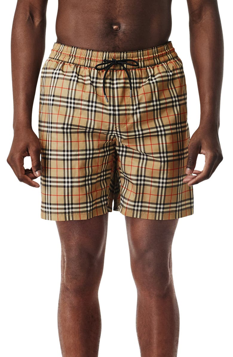 Guildes Vintage Check Swim Trunks by Burberry