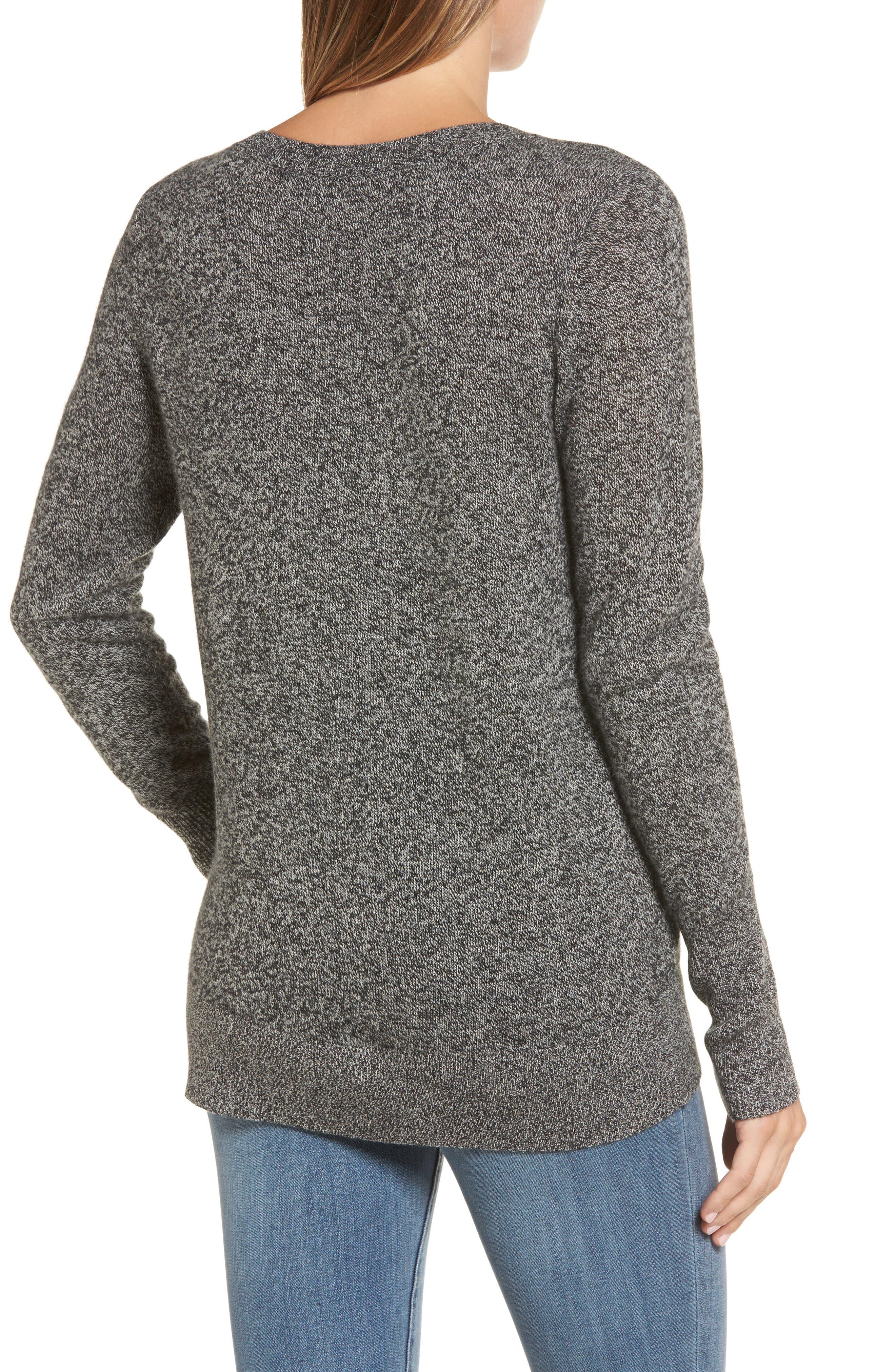 ,                             V-Neck Cashmere Sweater,                             Alternate thumbnail 14, color,                             004